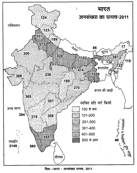 UP Board Solutions for Class 12 Geography Chapter 1 Population Distribution, Density, Growth and Composition 1