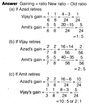 NCERT Solutions for Class 12 Accountancy Chapter 4 Reconstitution of a Partnership Firm – Retirement Death of a Partner Do it Yourself I Q3