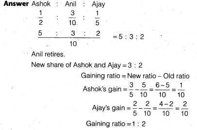 NCERT Solutions for Class 12 Accountancy Chapter 4 Reconstitution of a Partnership Firm – Retirement Death of a Partner Do it Yourself I Q7