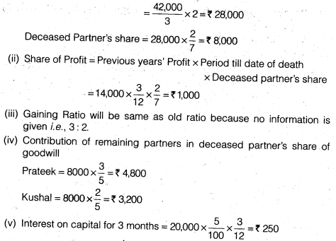 NCERT Solutions for Class 12 Accountancy Chapter 4 Reconstitution of a Partnership Firm – Retirement Death of a Partner Numerical Questions Q9.3