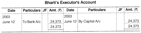 NCERT Solutions for Class 12 Accountancy Chapter 4 Reconstitution of a Partnership Firm – Retirement Death of a Partner Numerical Questions Q13.3