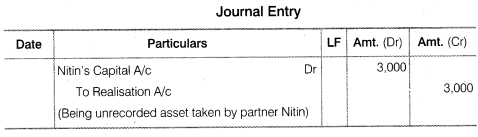NCERT Solutions for Class 12 Accountancy Chapter 5 Dissolution of Partnership Firm Numerical Questions Q3
