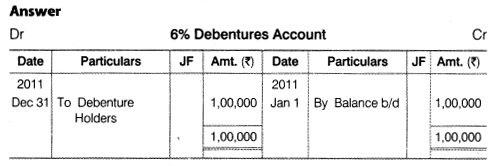 NCERT Solutions for Class 12 Accountancy Part II Chapter 2 Issue and Redemption of Debentures Numerical Questions Q23.1