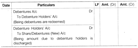 NCERT Solutions for Class 12 Accountancy Part II Chapter 2 Issue and Redemption of Debentures LAQ Q10