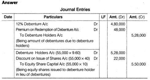 NCERT Solutions for Class 12 Accountancy Part II Chapter 2 Issue and Redemption of Debentures Numerical Questions Q34