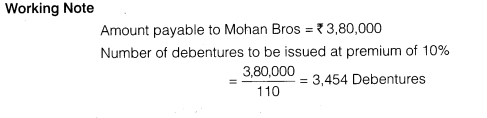 NCERT Solutions for Class 12 Accountancy Part II Chapter 2 Issue and Redemption of Debentures Numerical Questions Q10.5