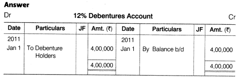 NCERT Solutions for Class 12 Accountancy Part II Chapter 2 Issue and Redemption of Debentures Numerical Questions Q24.1