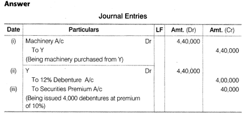 NCERT Solutions for Class 12 Accountancy Part II Chapter 2 Issue and Redemption of Debentures Numerical Questions Q11