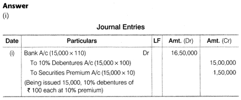 NCERT Solutions for Class 12 Accountancy Part II Chapter 2 Issue and Redemption of Debentures Numerical Questions Q12