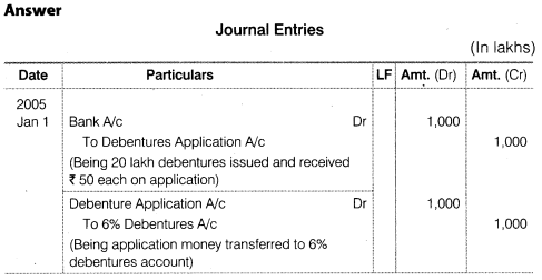 NCERT Solutions for Class 12 Accountancy Part II Chapter 2 Issue and Redemption of Debentures Do it Yourself IV Q5